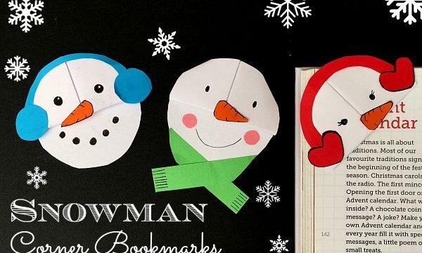 Snowman Bookmark Design