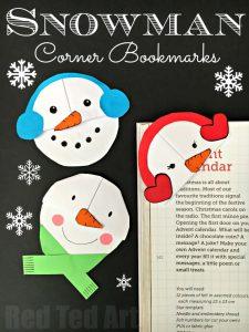 snowman-bookmark-design