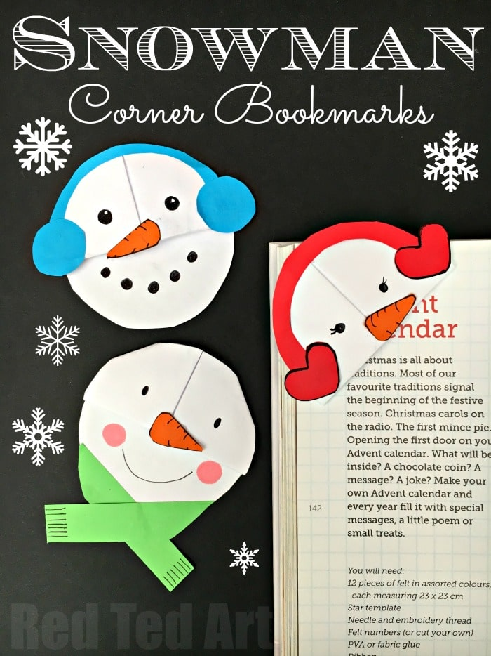snowman bookmark design