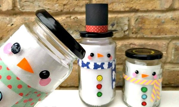 Easy Snowman Jar DIY