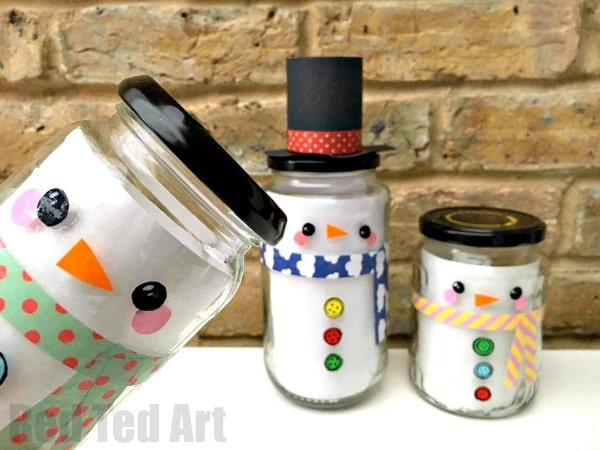 Easy Snowman Jar Diy Red Ted Art Make Crafting With Kids Easy Fun