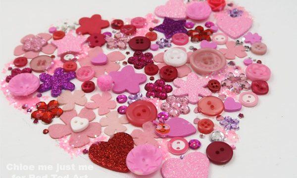 Button Heart ARt for kids