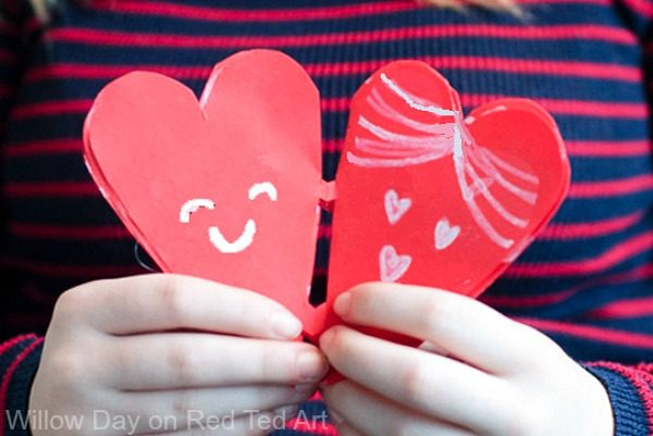 Valentine Paper Heart Snowflakes - Red Ted Art\'s Blog