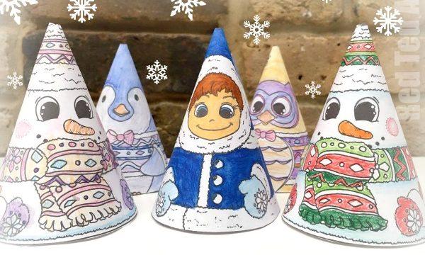 3D Christmas Coloring – 3D Snowman & Friends