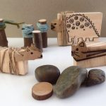 Wood block animals DIY
