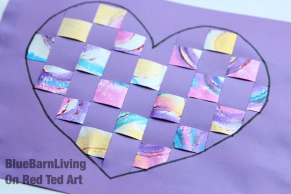 Try this paper weaving technique for Valentine's Day or Mother's Day. Easy Paper Woven Heart Art or Heart Cards for Valentines with Kids!