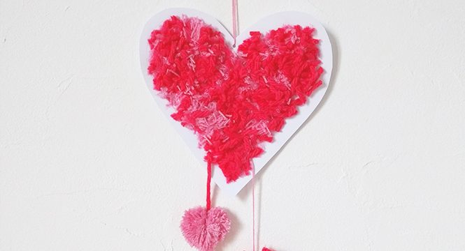 Heart Pom Poms How To