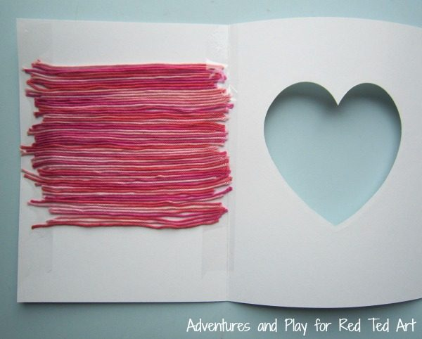 yarn-striped-heart