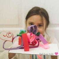 3D Paper Heart Sculptures
