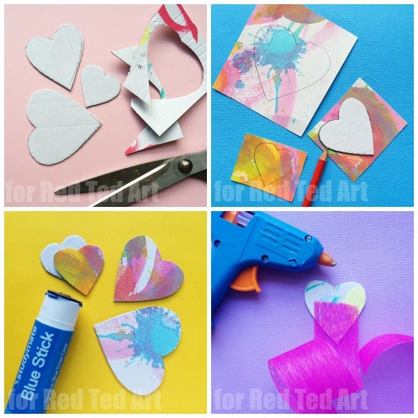 recycle heart bookmarks designs