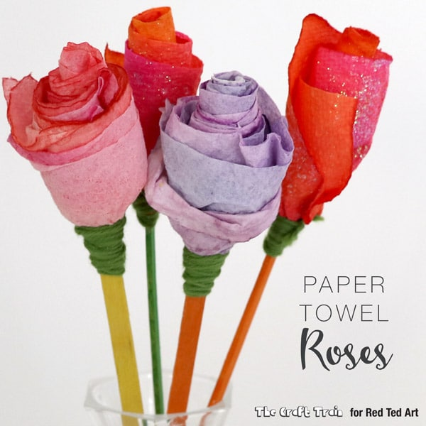 rose craft ideas paper towel roses ted s 2855