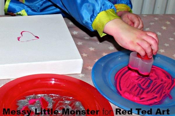 Cookie Cutter Heart Art Red Ted Art