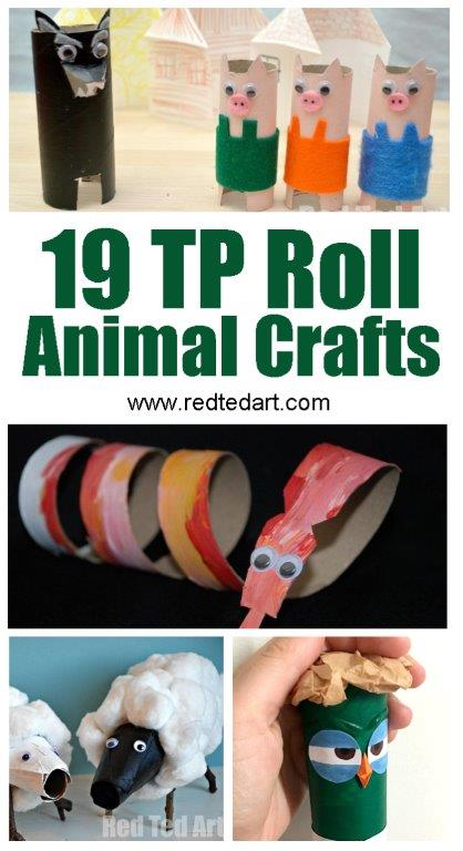 Toilet Paper Roll Crafts for Kids - TP Roll Animals