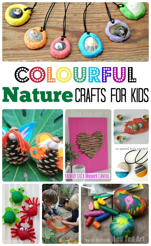 Colourful and EASY Nature Crafts for Kids - this is a great way to explore nature, gather wonderful craft material and get creative!