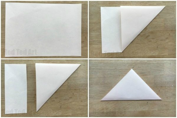 Begin By Making Your Basic Origami Bookmark Corner Step Instructions