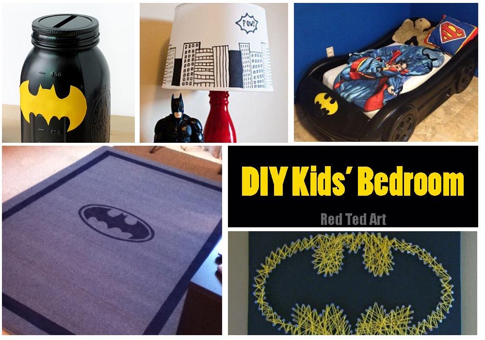 Diy Batman Kid 39 S Bedroom Red Ted Art 39 S Blog