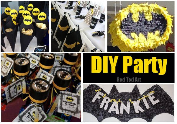 Easy Batman DIY Ideas Red Ted Arts Blog