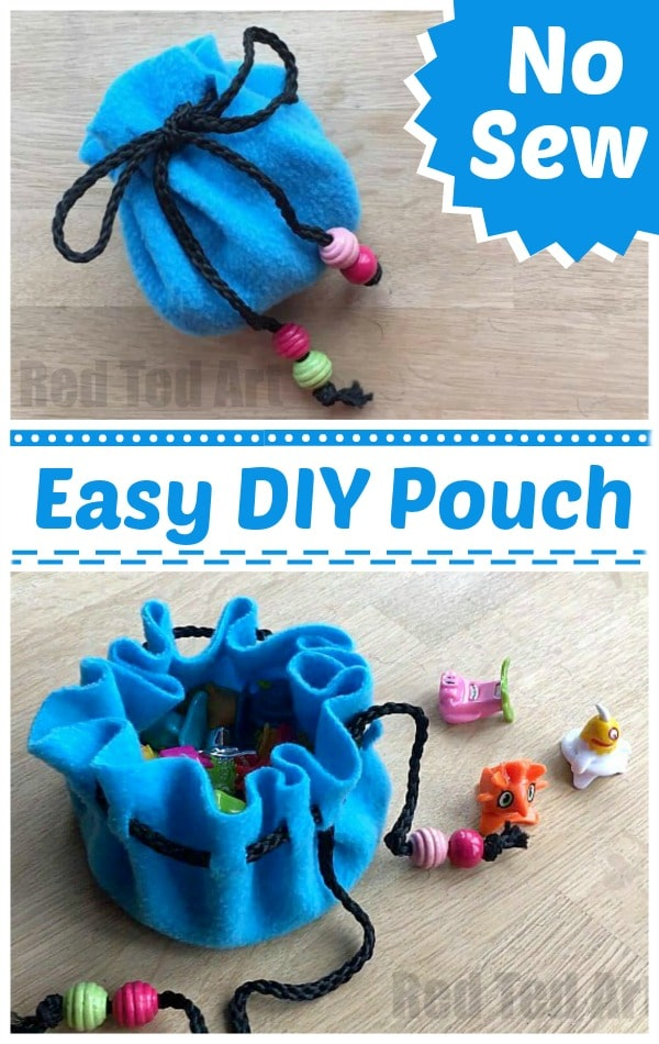 easy kids crafts ideas no sew pouch diy ted s 4366