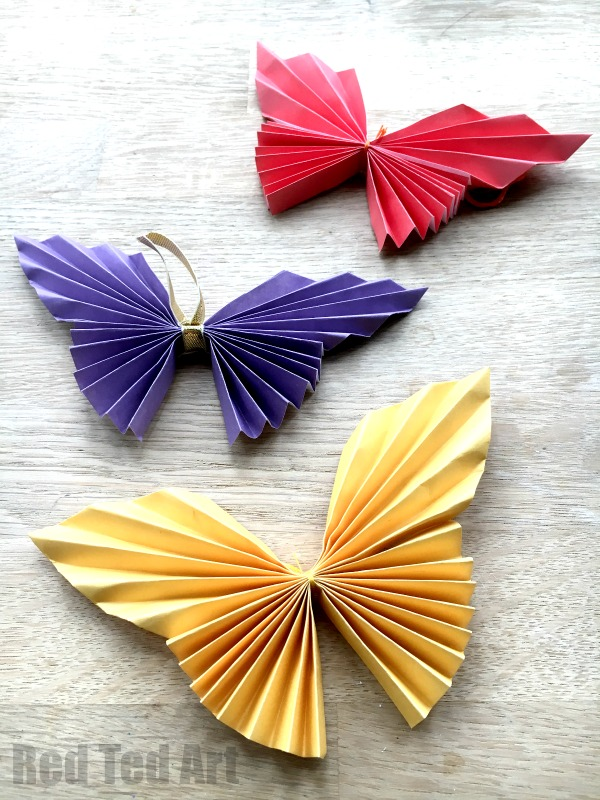 Superb Butterfly Craft Ideas For Kids Part - 13: Easy Paper Butterfly Origami - Beautiful Origami Butterflies For Kids To  Make. These Look Super