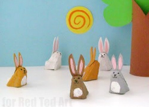 Easy Egg Carton Bunny Rabbit