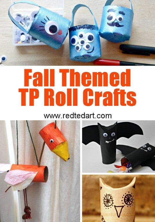 Toilet Paper Roll Crafts for Kids - ideas for Fall and Halloween