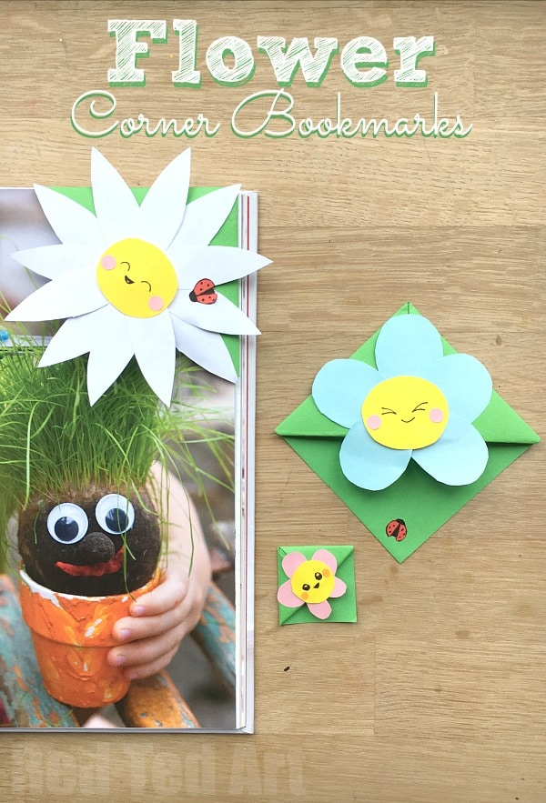 "Easy Flower Bookmark Corner - Super cute and easy flower corner bookmark, perfect for Mother's Day, as a Teacher's Gift or simply for Spring or ""because you love flowers"" Love love love. Easy to make and oh so cute. Check out this darling flower bookmark diy today! #mothersday #teachersgift  #flowers #bookmark"