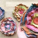 Easy Newspaper Flowers DIY