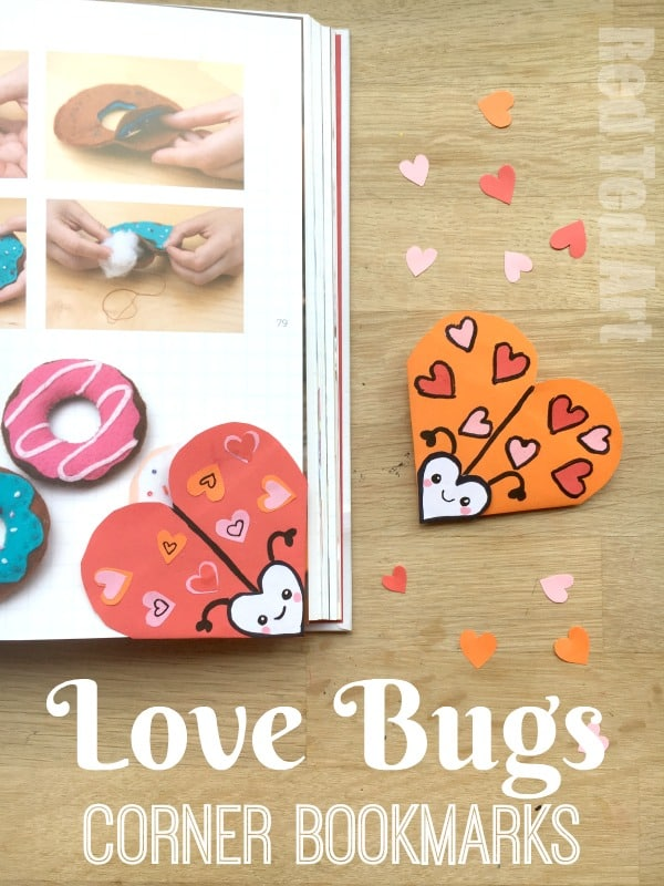 Love Bug Bookmark Designs - Red Ted Art's Blog