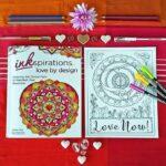 Love Mandala Coloring Page for Grown Ups