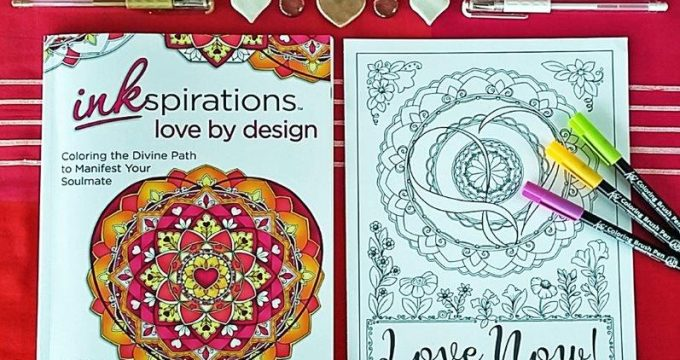 Love Mandala Coloring Page for Grown Ups