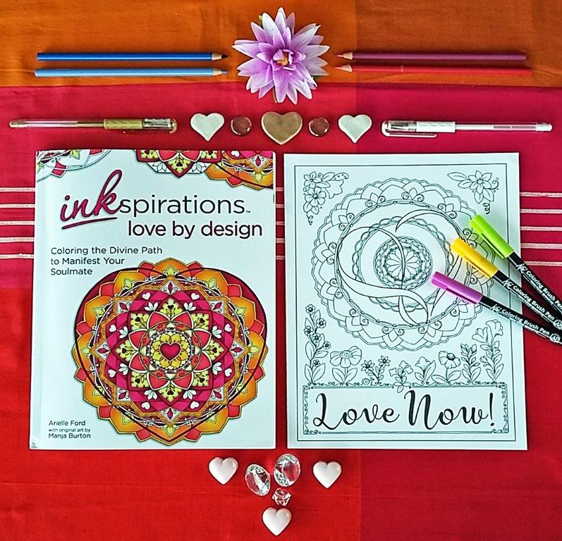 Love Mandala Coloring Page for Grown Ups - Red Ted Art\'s Blog