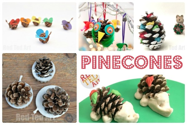 Nature crafts pine cones red ted art 39 s blog for Nature crafts for kids