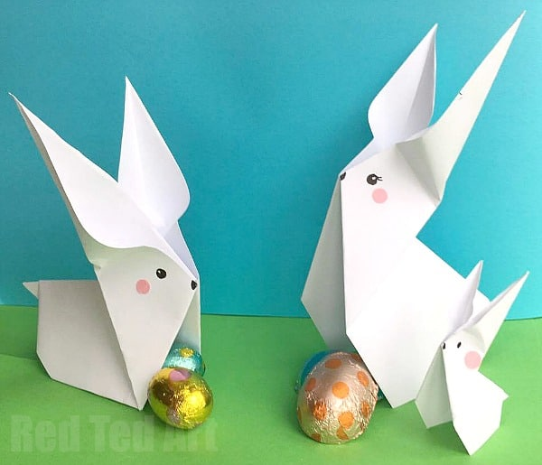 easy paper bunny origami red ted arts blog