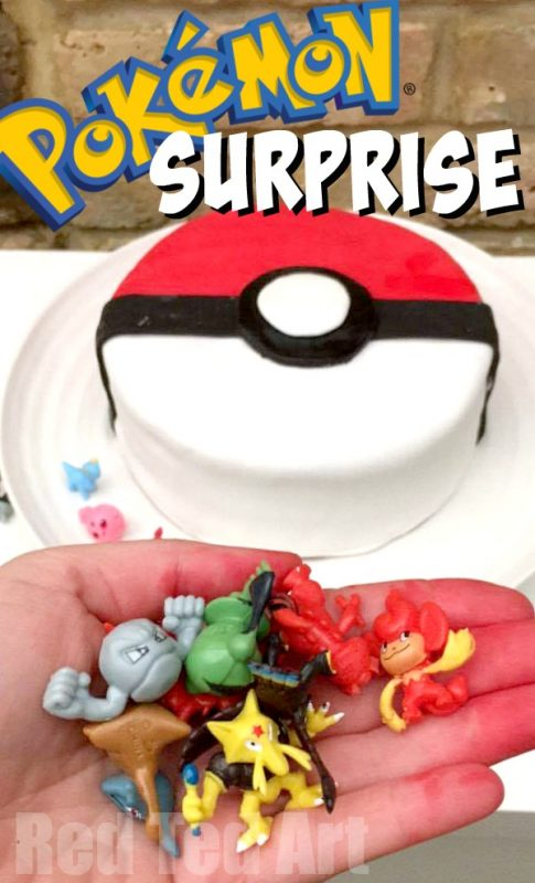 Diy Pokemon Cake Surprise Pinata Pokeball Cake Red Ted Art