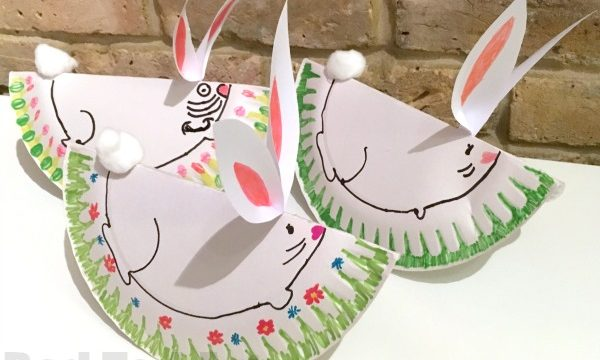 Easy Rocking Paper Plate Bunny Rabbit