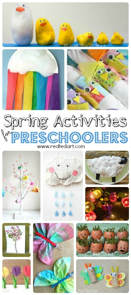 Easy Spring Crafts For Preschoolers And Toddlers Red Ted Art