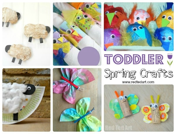 Easy Spring Crafts For Preschoolers And Toddlers Red Ted Art S Blog