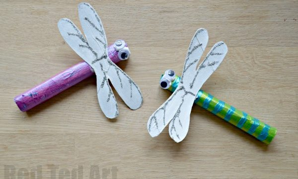 Toilet Paper Roll Dragonfly