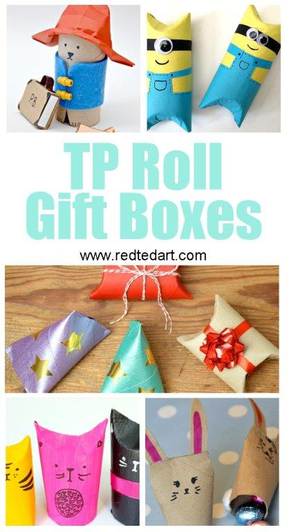 Toilet Paper Roll Crafts for Kids - TP Roll Gift Boxes and favour boxes. Genius.