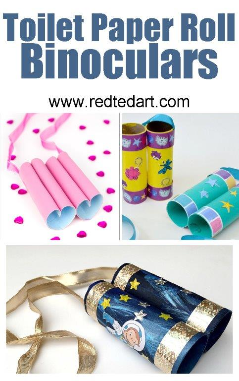 Loo Roll Crafts for Kids - you can never have too many TP Roll Binoculars as a kid!