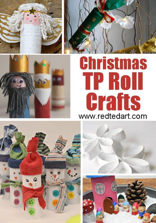 Toilet Paper Roll Crafts for Kids - Christmas ideas