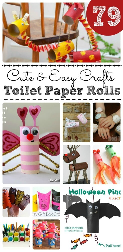 Cute & Easy Toilet Paper Roll Crafts. *Thrifty Fun for Kids* Oh my, such a HUGE selection of wonderful TP Roll Crafts for Kids. Something for all interests and seasons. Genius. #toiletpaperrolls #tprolls #loorolls #tprollcrafts #craftsforkids #recycling