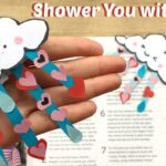 """Shower You With Love"" Valentines Corner Bookmark"