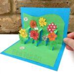 3D Flower Card DIY – Pop Up Cards for Kids