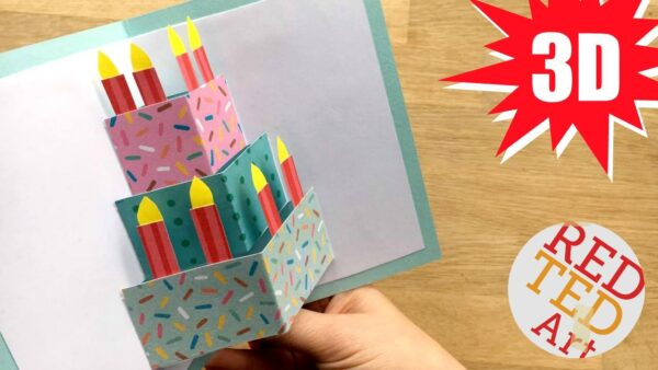 3D Birthday Card Cake Materials