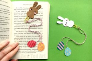 Easy Paper Clip Bunny & Egg Bookmarks