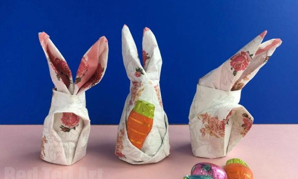 How to fold a Bunny Napkin for Easter