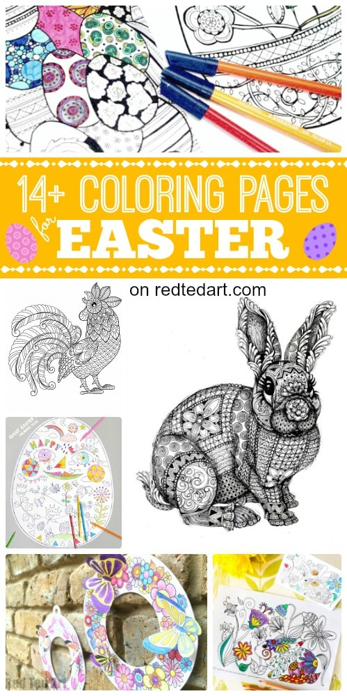 Free Printable Coloring Pages for Easter - Red Ted Art