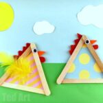 Craft Stick Chicks for Easter and Spring