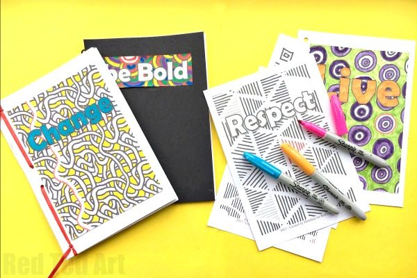 How to Make a Journal - Mindful Journals for Kids . This is a super easy and great looking DIY Journal for kids. Fully customisable and a great way to empower kids or use as part of an anti bullying campaign. Empower kids to be mindful.